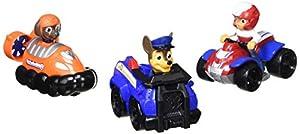 PAW PATROL Rescue Racers 3pk Online Exclusive 2 (Chase, Zuma, Ryder) vehículo de Juguete - Vehículos de Juguete (Zuma, Ryder), Multicolor, Camión, De plástico, Interior, 3 año(s), Niño/niña