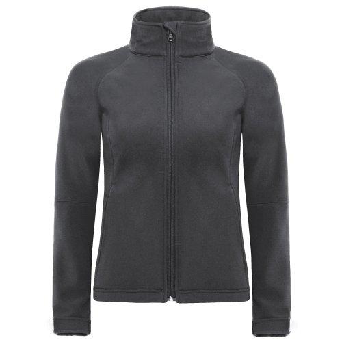 B&C Damen Softshell-Jacke mit Kapuze, winddicht, wasserfest, atmungsaktiv Marineblau