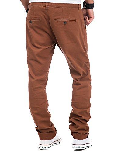 Chino Herren Hose Carisma CRSM Clubwear Destroyed Vintage Jeans Denim Kosmo Japan Style Look Braun