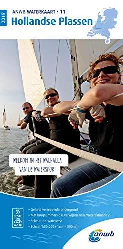 Waterkaart 11 Hollandse Plassen 1:50 000: Wasserkarte: WATERKAART 11 HOLLANDSE PLASSEN 2019 por ANWB