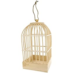 Jaula para pájaros madera
