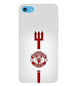 For Apple iPod Touch 6 red icon, icon, trishul, grey background Designer Printed High Quality Smooth Matte Protective Mobile Pouch Back Case Cover by BUZZWORLD