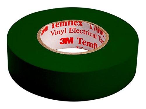 3m tgru1510temflex 1500vinile nastro isolante elettrico, 15mm x 10m, 0,15mm, verde