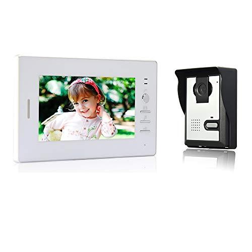 Nudito kit videocitofono universale per casa. video citofono porta (1 monitor lcd da 7