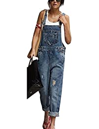 d713049e5e Womens Playsuit Jumpsuit Denim Casual Loose Dungarees Jeans Sleeveless
