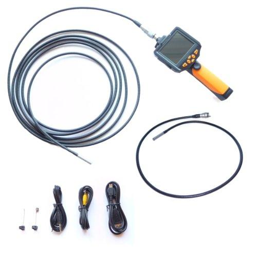 8mm PROFI HD 720p Endoskopkamera Set mit 1 und 5 Meter Schwanenhals 6xLED Beleuchtung mit Zubehör Qvga Tv