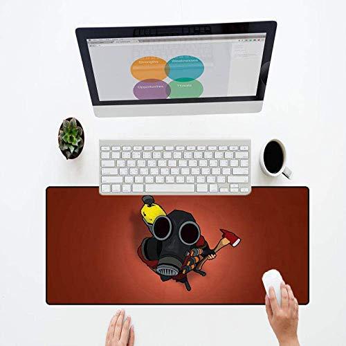 Mauspad Matte Mauspad for Gaming Große Größe Hohe Geschwindigkeit Hohe Präzision Nette Animierte Mauspad Gummi Slip Laptop Spiel Große Größe Mousepad Player for PC Spiel LOL (Color : 350X600X2MM) -