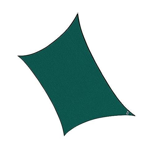 Cool Area Rectangle 4x6m HDPE Sun Shade Sail, UV Block Patio Shade Sail in Color Green