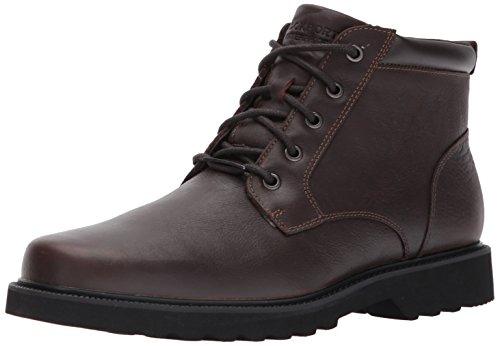 Rockport Men's Northfield WP Plain Toe Chukka Boot, Chocolate Waterproof, 13 XW US Northfield Oxford