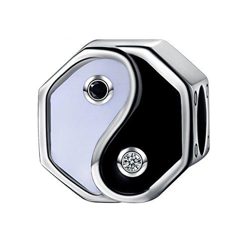 GW 925 Sterling Silber Yin und Yang Charms Bead Perle für Pandora Armband Damen