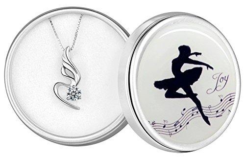 Colgante Collar Plata de Ley 925 Mujer Cristales Circonita 45cm Extensión 5cm Regalos Niña Esposa Hija Hermana cumpleaños Navidad deshierbe día de la Madre día de San Valentín