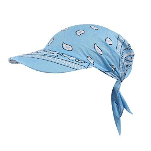men, Retro-Stil, Baseball-Mütze, Turban-Handtuch aus Baumwolle, Schirm, hellblau ()