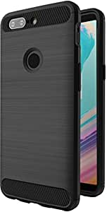 Amazon Brand - Solimo OnePlus 5T Mobile Cover (Soft & Flexible Back case), Black