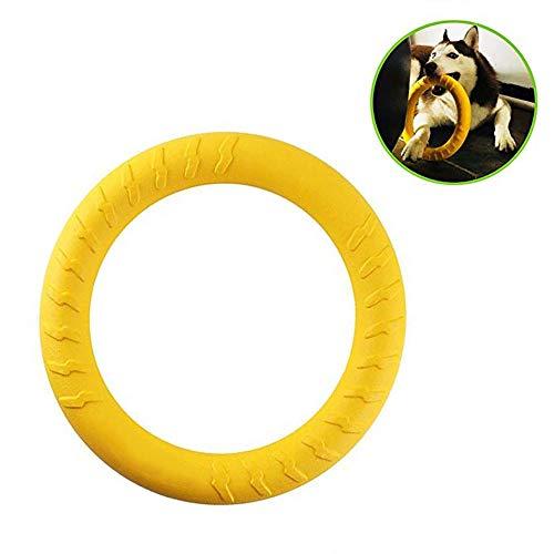 ASOCEA Interaktives Hundespielzeug, langlebiger Naturkautschuk-Ring für Training Hunde und zum Kauen im Freien, Fitness- und Übungsspielzeug für mittelgroße bis große Rassen