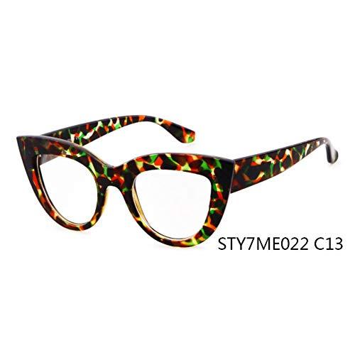 Taiyangcheng Frauen Cat Eye Plain Brille Frauen Clear Cat Eye Brillen Hochwertige Gläser für Frauen,C13