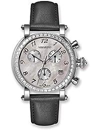 09a59b2068cf ASSARTO® Watches ASD-4801WS WHT - Reloj de Pulsera para Mujer con Esfera