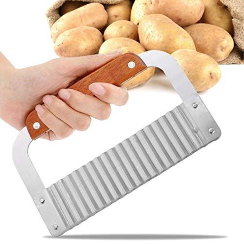 Fheaven Wellenschneider, gewellt, Edelstahl, Knisterschneider, Gemüse, Kartoffelchips, französischer Frittierschneider