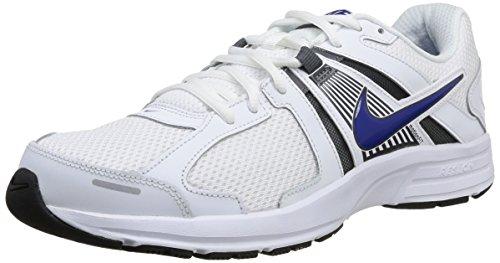Nike Dart 10 Zapatillas de running, Hombre, Blanco / Azul / Gris, 42