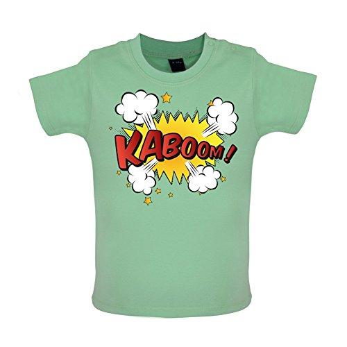 Superheld Kaboom - Baby T-Shirt - Mintgrün - 18 bis 24 Monate