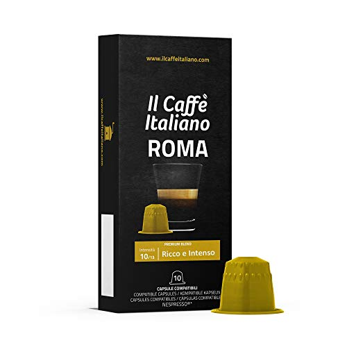 Frhome - nespresso 100 capsule compatibili - il caffè italiano - miscela roma intensità 10