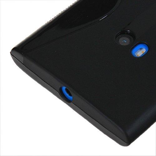 Schwarz S-Line Slim TPU Sport Wave Gel Case für Nokia Lumia 930Schutzhülle Line Wave Tpu Case