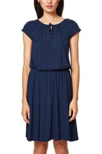 ESPRIT Damen Kleid 048EE1E002, Blau (Navy 400), Small