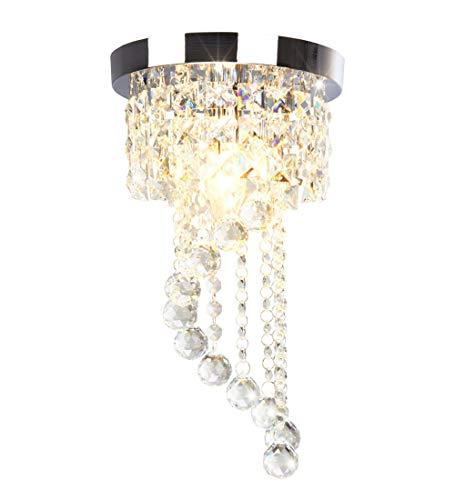 Dellemade Mini Stil 1-Leuchtet Kristall kronleuchter Modern Deckenleuchte Für Treppenhaus, Bar, Küche, Esszimmer, Kinderzimmer -