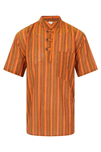 ThaiUK Herren Freizeit-Hemd Orange 2
