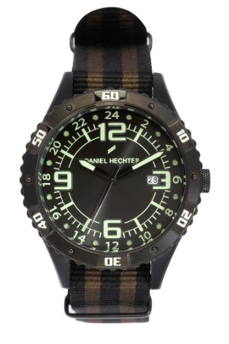 Daniel Hechter Men's Quartz Watch with Black Dial Analogue Display Quartz Fabric DHH 002/3AZ