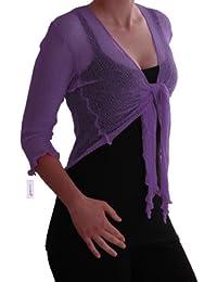 EyeCatch TM - Foxy Damen Netz Bolero Cardigan Strickjacke one size