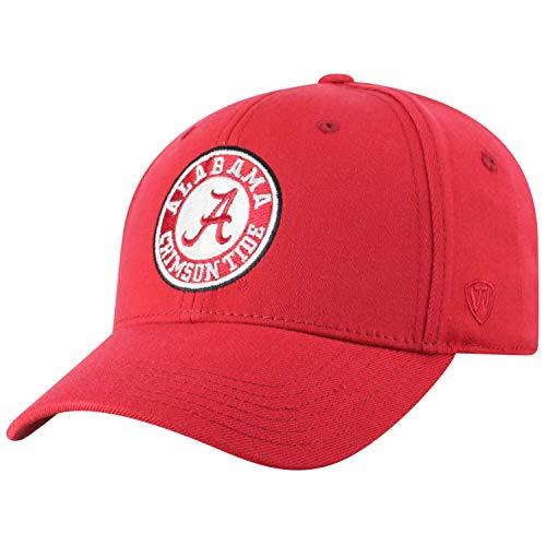 Top of the World NCAA Alabama Crimson Tide Men's Premium Memory Foam Logo Hat, Cardinal