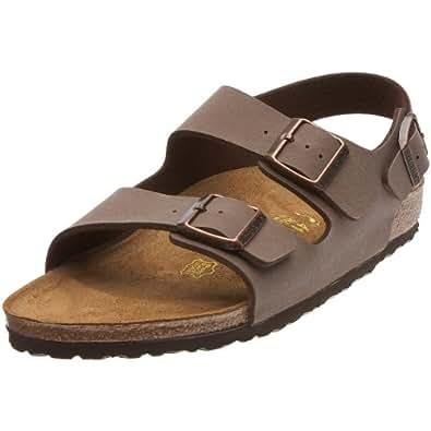 Birkenstock Milano Birko-Flor, Style-No. 634503, Unisex Sandals, Mocca Nubuk, EU 44, slim width
