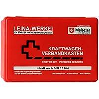 Leina Werke 10005 KFZ-Verbandkasten Standard, Rot/Weiß/Schwarz preisvergleich bei billige-tabletten.eu