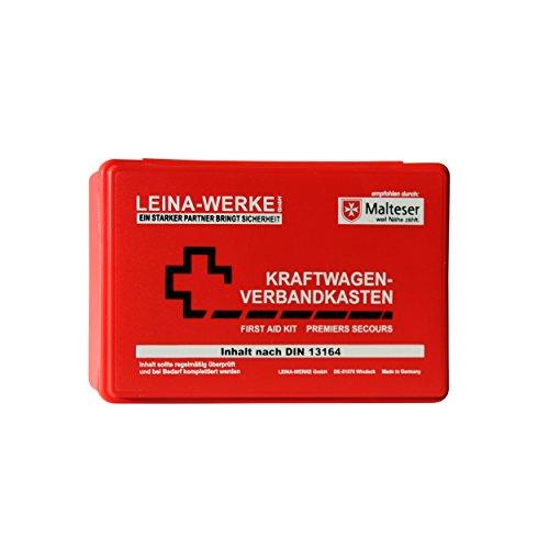 Leina-Werke 10005 KFZ-Verbandkasten Standard, Rot/Weiß/Schwarz