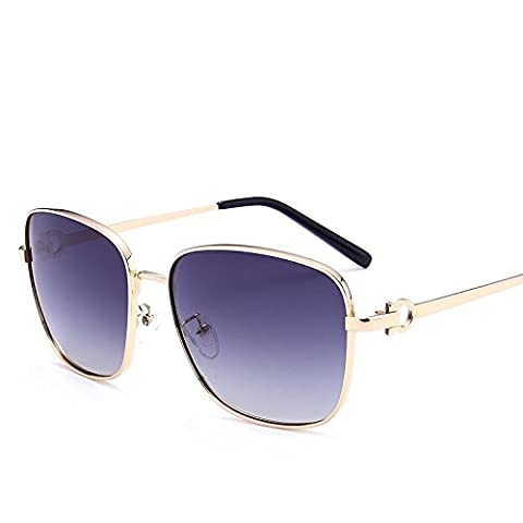 LXKMTYJ Sunglasses Men Chaoren Polarized Sunglasses Driving Mirror Driver Mirror Gradient Stylish Glasses, Double-Gray Film