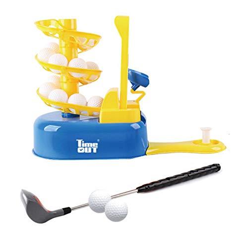 Szseven Golf Club-Spiel für Kinder, Geschenk Golf Neuheit Sommerspiß, Golf Maschine für Golfbälle im Freien für Kinder Golf Outdoor Sport Indoor gelb