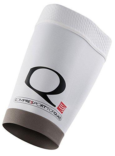 COMPRESSPORT Hose Quad Oberschenkelkompressionssleeve, Weiß, XL