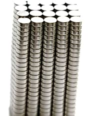 BestPriceEver 200 Pieces of 4mm X 1.5mm Magnets Nickel Coated Round Premium Brushed Refrigerator Magnet For Science And School Projects