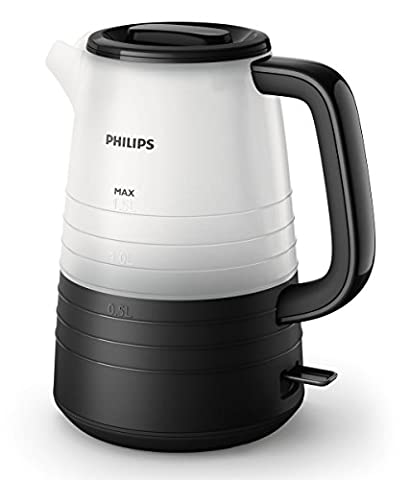 Philips HD9334/90 Wasserkocher, 2200 W, 1,5 L, transparent/schwarz