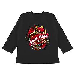 Karneval und Fasching Baby - Kölle Alaaf bunt - 12/18 Monate - Schwarz - BZ11 - Baby T-Shirt Langarm