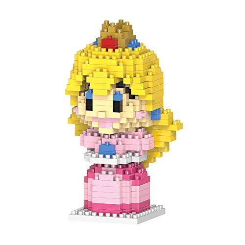 NiceButy para niños Juguetes del Bloque Nanoblock Tipo Micro Building Blocks for Serie de Mario Bros (Princesa) Juguete Divertido para los niños
