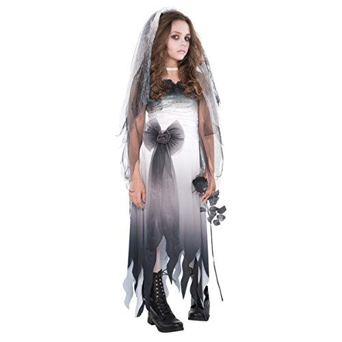 Kostüm Braut Teen - Teen gotischen Zombie Braut Halloween-Kostüm Teen (14-16 years)