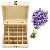 EisEyen Gewürzbox Kleine Holzschatulle Schmuckkästchen Aufbewahrungsbox Schmuck Organizer 25 Fächer Jewellery Box Natur