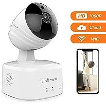 Camara Vigilancia Inalámbrico, Cámara IP Interior WiFi con Visión Nocturna, Detección de Movimiento &