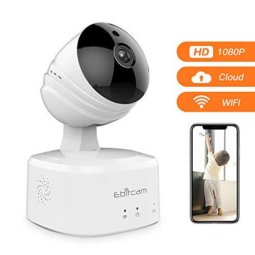 Caméra IP sans Fil 1080P HD, Caméra de Surveillance WiFi de Sécurité, Caméra IP de Intérieur avec Détection de Mouvement, Vision Nocturne, 2-Way-Audio pour Bébé/Aîné/Animal/Maison Moniteur-Alexa