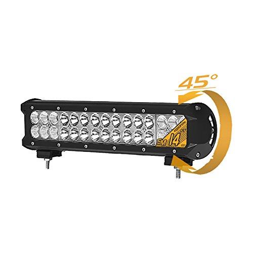 Eyourlife 90W 14' CREE LED Barra Luminosa del Lavoro Luce Faro LED da Lavora Luce Fendinebbia Impermeabile Flood e Spot per Auto Camion