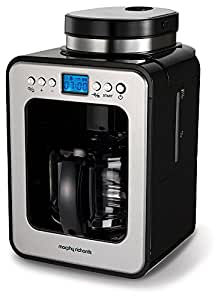 Morphy Richards 162100 Bean to Cup Grind and Brew Machine Coffee Maker, 600 W, Black/Brushed