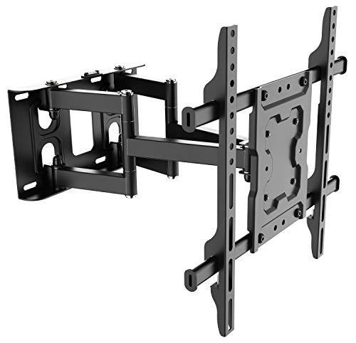 RICOO TV Wandhalterung S7244 Universal für 40-75 Zoll (ca. 102-191cm) Schwenkbar Neigbar Wand Halter Aufhängung Fernseh Halterung auch für Curved LCD & LED Fernseher | VESA 200x100 400x400 | Schwarz