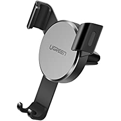 UGREEN Car Phone Holder Gravity Air Vent Mobile Mount Auto Lock Phone Stand Cradle Compatible for iPhone 11/XR/XS Max/XS/X/8+/7/6/5/SE, Samsung Note 9/S9/S8+/A20e/A70,Huawei P30/P20, Google Pixel,Moto