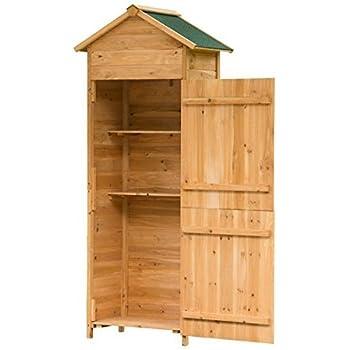 festnight armoire de jardin etanche en bois jardin. Black Bedroom Furniture Sets. Home Design Ideas